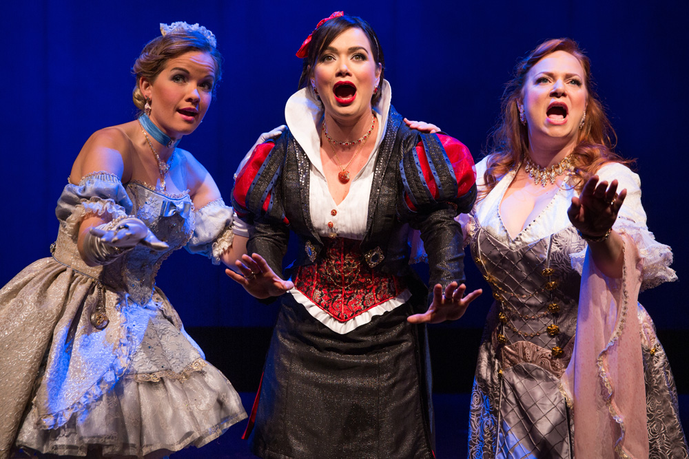 Becky Gulsvig, Michelle Knight and Jen Bechter in a scene from DISENCHANTED!