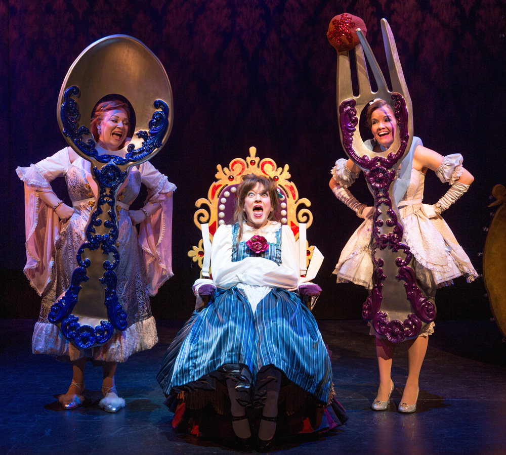 Jen Bechter, Alison Burns and Becky Gulsvig in a scene from DISENCHANTED!