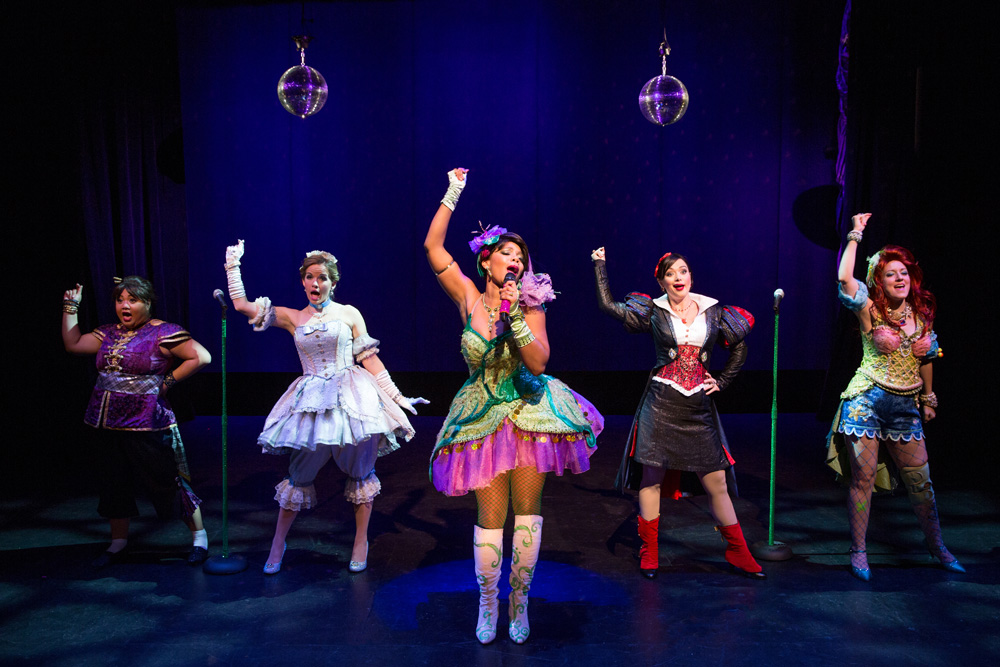 Lulu Picart, Becky Gulsvig, Soara-Joye Ross, Michelle Knight and Alison Burns in a scene from DISENCHANTED!