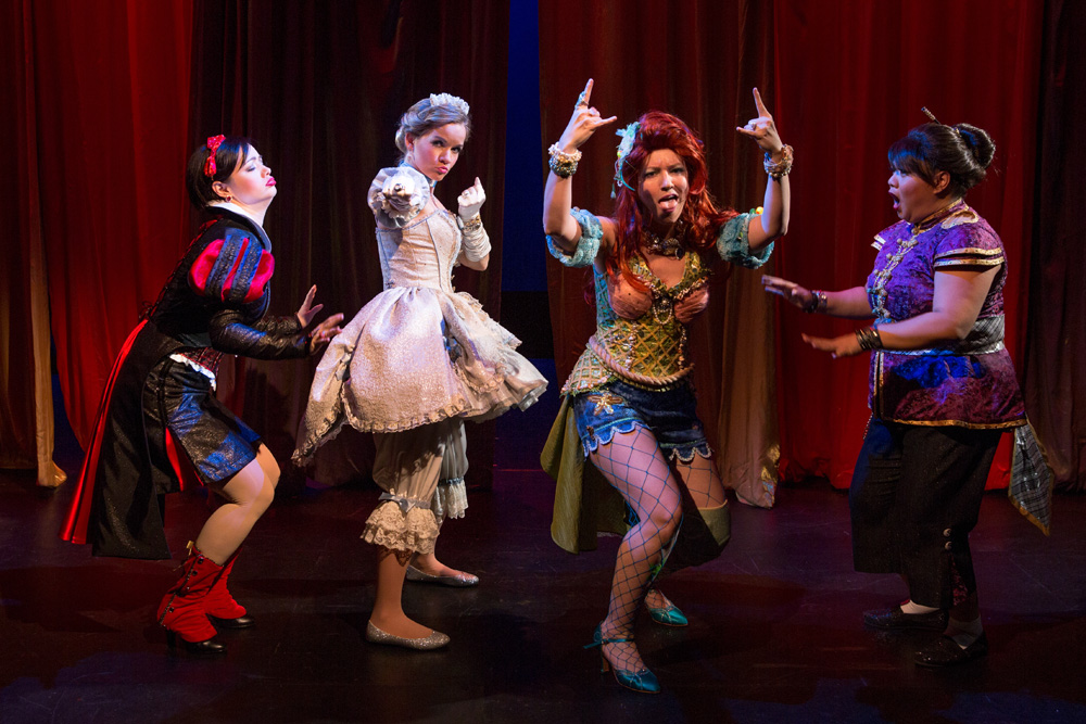 Michelle Knight, Becky Gulsvig, Alison Burns and Lulu Picart in a scene from DISENCHANTED!